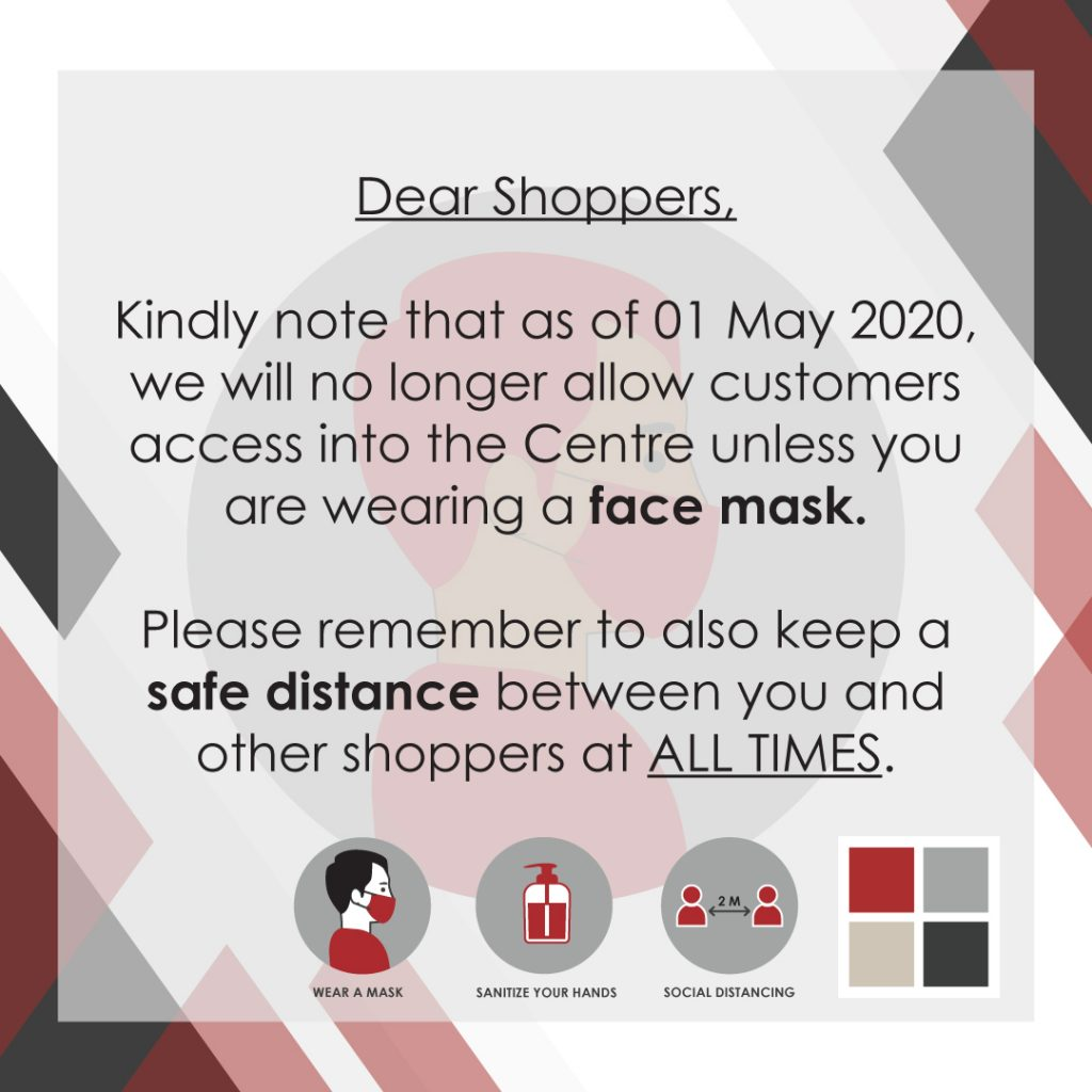 Lifestyle on Kloof COVID-19 Update - Face Mask