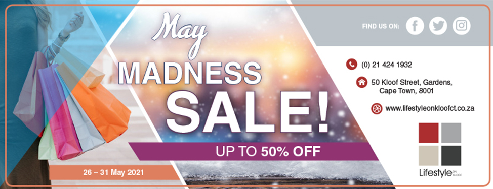 Lifestyle on Kloof - May Madness Sale Banner